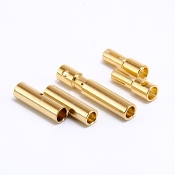 Holmes Hobbies  4MM BULLET CONNECTORS 3 PACK