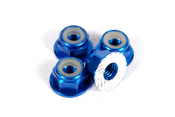 Axial M4 Serrated Nylon Lock Nut (Blue) (4pcs)