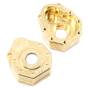 Yeah Brass Front or Rear Portal Cover 42g 2 pcs Traxxas TRX-4