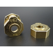 Hot-Racing Brass Heavy Metal Knuckle portal Cover TRX4
