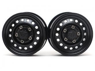 "Boom Racing 1.55"" 16-Hole Classic Steelie Beadlock Wheels Front"