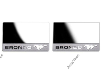 Team DC TRX4 Bronco Metal Stainless Steel Mirror Inserts