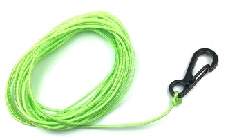 DSM 1/10 RC SYNTHETIC WINCH LINE W/ CLASP HOOK - 10' NEON GREEN