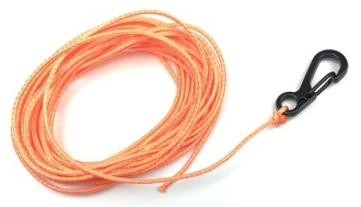 DSM 1/10 RC SYNTHETIC WINCH LINE W/ CLASP HOOK - 10' (Orange)