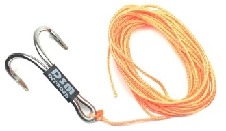 DSM 1/10 RC SYNTHETIC WINCH LINE W/ MULTI HOOK - 10' (Orange)