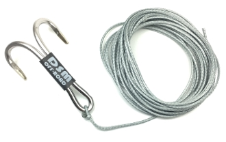 DSM 1/10 RC SYNTHETIC WINCH LINE W/ MULTI HOOK - 10' (Silver)