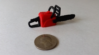 Mad Mikes 1/10 Scale Chain Saw (red)