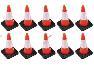 Boom Racing Rubber Traffic Cone w/ Reflective Decal (10)