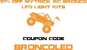 10% off MyTrick RC TRX4 Bronco LED Light Kits = BroncoLED