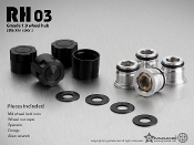 GMADE 1.9 RH03 Wheel Hubs (Black) (4)