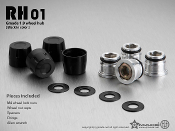 GMADE RH01 1.9″ wheel hubs (Black) (4) for RC Crawlers