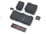 Team Raffee 1/10 Scale Luggage Cases Black for RC Crawlers