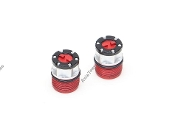 Boom Racing Scale 4WD Center Locking Hub Cover (2) Red