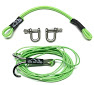 DSM 1/10 RC SYNTHETIC WINCH LINE W/HOOK - 10' V2 NEON GREEN