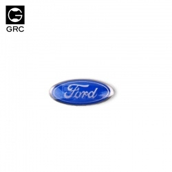 "GRC Traxxas TRX4 Grille ""Ford"" Blue Oval Emblem Badge"