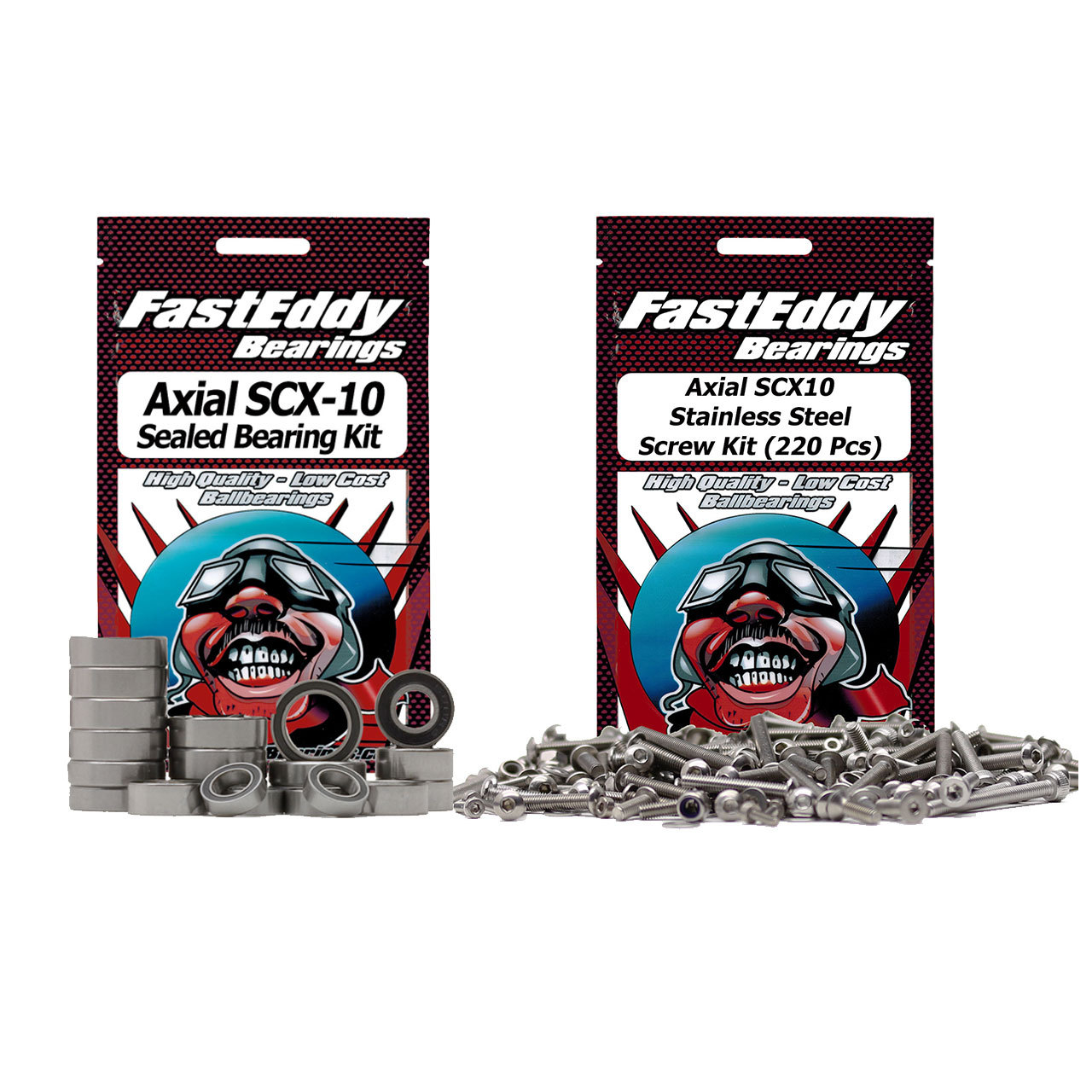 Fast Eddy Axial SCX10 Bearing and Screw Kit Combo
